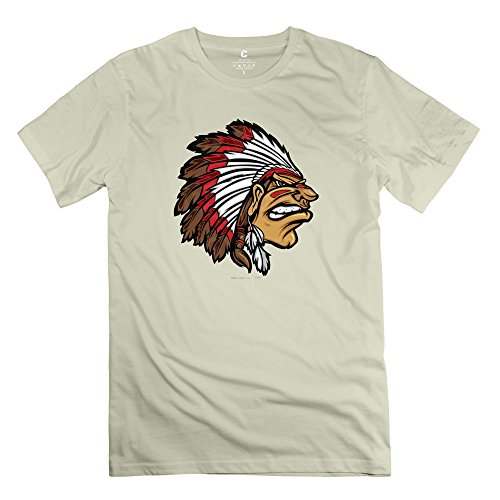 Yongth Men'S Kansas City Chiefs Native American 100% Cotton T-Shirt - Cool T-Shirt Natural Us Size Xs