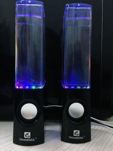 Soundsoul Music Fountain Mini Amplifier Dancing Water Speakers I-station7 Apple Speakers (Black)