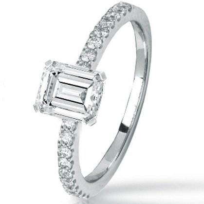 1.14 Carat GIA Certified Emerald Cut / Shape