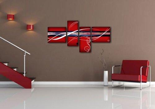 Quadri moderni astratti olio su tela dipinti a mano rosso - Quadri da parete moderni ...