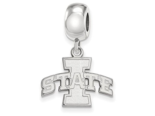 Iowa State Bead Charm Small (1/2 Inch) Dangle (Sterling Silver)