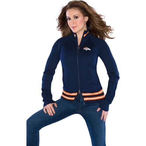 Touch by Alyssa Milano Denver Broncos Women's Sweater Mix Jacket Extra Small at Amazon.com