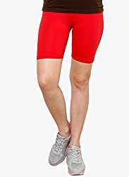 Goodtry Women's Cycling Shorts- Red