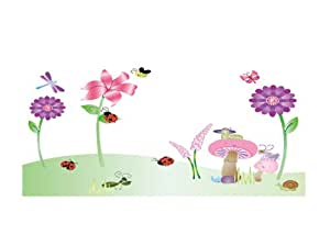 instylewall wandsticker f r kinderzimmer motiv spring insekten. Black Bedroom Furniture Sets. Home Design Ideas
