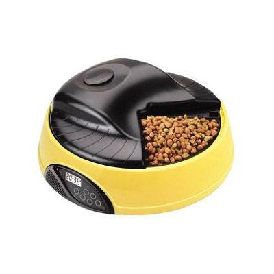 BPS オートマチックペットフィーダー BPS-P55Y 犬猫ペット用自動給餌器(エサやり器) 音声登録 4食分タイマー GWのお留守番も安心