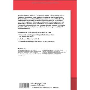 Rechentafeln für die Chemische Analytik: Basiswissen für die Analytische Chemie (De Gruyter Studiu
