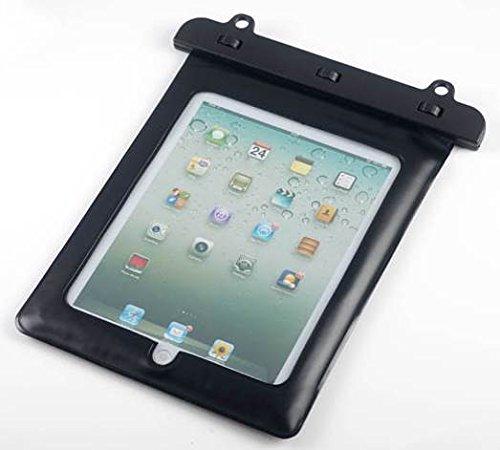 7-10 インチ タブレット用防水ケース 首掛け付き タッチペン セット ipad 2/3/4 Air1/2/ipad mini/ ARROWS Tab/dtab/ASUS/Xperia tablet/Galaxy note10.1 ブラック