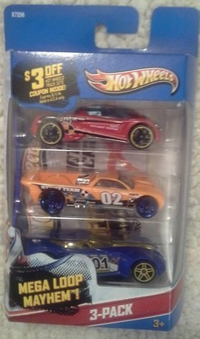 Hot Wheels X7162 Hot Wheels Basic Car Assorted Styles 3 Count