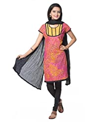 Pink Printed Cotton Salwar Suit