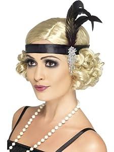 20er Jahre Charleston Kopfband Schwarz