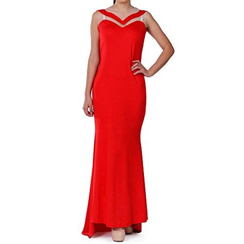 Women Elegant Long Chiffon Evening Party Strapless Long Maxi Gown Dress/M