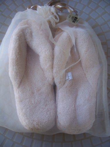 Cheap Bath Body Works Cream / Beige Slippers in Beautiful Mesh Bag Retail $17 One Size (B004FEXPYU)