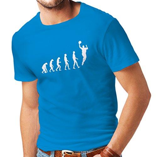 T-shirt da uomo Evolution Basketball (Large Azzulo Bianco)