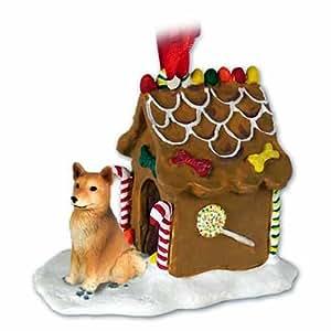 Amazon.com: Finnish Spitz Gingerbread House Christmas Ornament