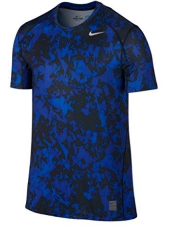 Nike Men's Pro Cool Dri-fit Fitted Splinter Camo T-Shirt, XXL, Blue