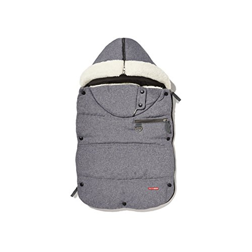 Great Features Of Skip Hop Stroll and Go Three-Season Footmuff, Heather Grey, Infant