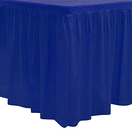 essentials 2908 plastic table skirt 96 quot length x 29