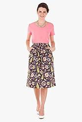 Floral Skirt(Floral002_Multicolor_XL)