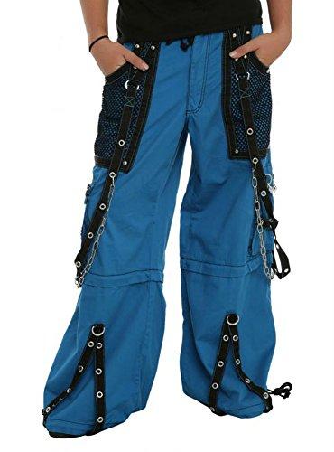 Tripp Bondage Rave Cyber Gothic Rocker Techno Baggy Biker Jeans Pants (34-36/L)