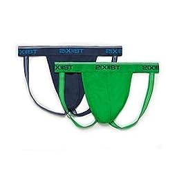 2xist 2-Pack Stretch Jockstrap 3102122203-S14 L/Estate Blue/Gem Green