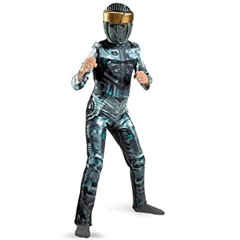 Real Steel Movie Atom Deluxe Costume, Blue/Silver, Medium
