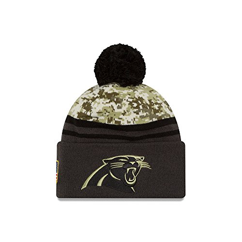 Men's New Era NFL Carolina Panthers 16 Salute To Service Knit Hat Camo Size One Size (Salute To Service Panthers compare prices)