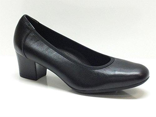 Decolleté Cinzia Soft in pelle nera con tacco basso (Taglia 36)