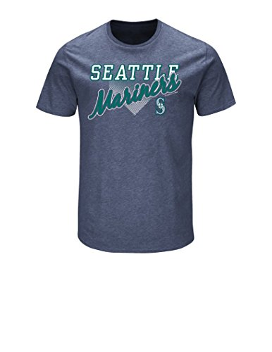 MLB Seattle Mariners Men's Master This Tee, Navy Heather, X-Large (The Master Mariner compare prices)