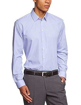 Strellson Premium Herren Slim Fit Businesshemd L-Quentin, Gr. Kragenweite: 38, Blau (Blau 325)