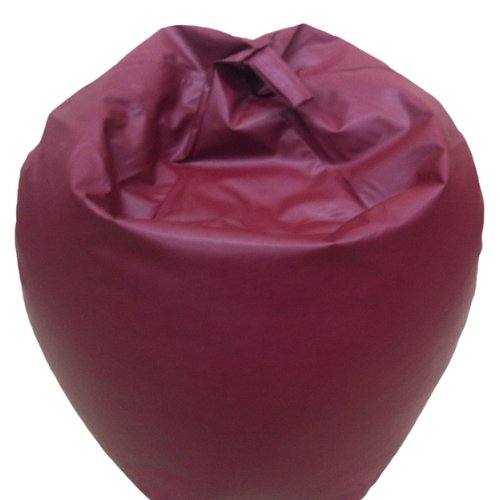 Linens Limited Faux Leather Beanbag, Burgundy