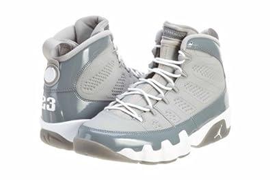 Mens Nike Air Jordan 9 Retro Basketball Shoes Medium Grey / White / Cool Grey 302370-015 Size 7.5
