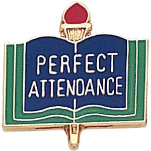 Perfect Attendance Lapel Pins (10-Pack)