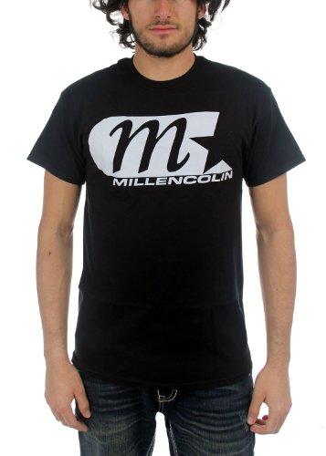 Millencolin - Uomo M Star Classic Logo T-Shirt, Medium, Nero