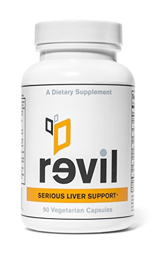 Revil - Serious Liver Support and Liver Detox (With Organic Milk Thistle, Organic Reishi Mushroom, NAC)