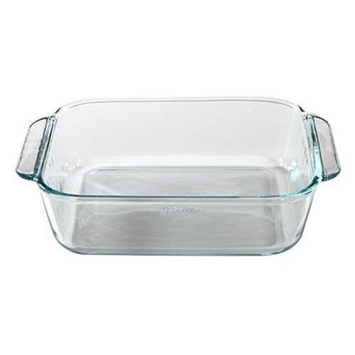 "Basics 8"" Square Baking Pan, Glass-Pyrex-1105395"