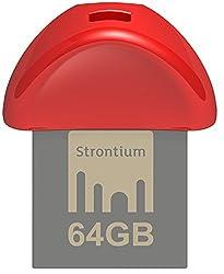 Strontium Nitro Plus Nano 64GB USB 3.0 Pen Drive (Red)