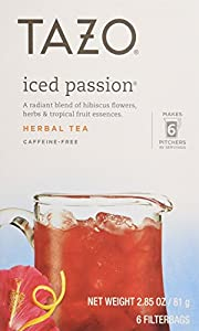 Tazo Iced Tea Passion 6 Bags (Case of 4) by Tazo