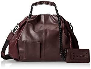 L.A.M.B. Ember Shoulder Bag,Wine,One Size