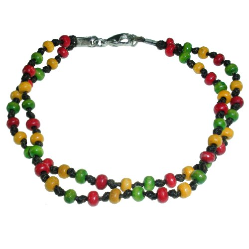 Handmade Double Strand Beaded Bracelet with Multi-Colored Beads