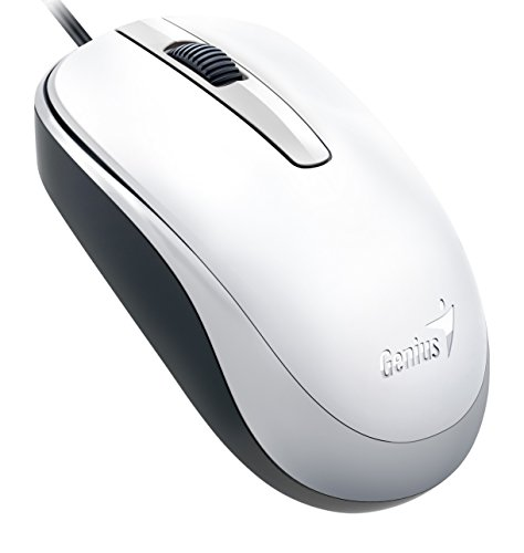 Genius Classic Wired Optical Mouse, White (Dx-120white) (Amazon Wired Mouse compare prices)