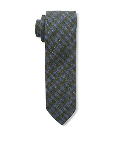 J. McLaughlin Men's Plaid Tie, Blue/Green