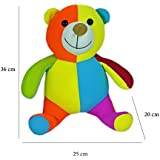 BabySid Collections Soft Toy Teddy Bear Thermocol Balls Filled Multi Color Medium Size