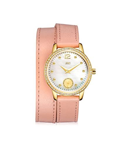 JBW Women's J6324A Savannah Diamond & White Mother-of-Pearl Gold/Pink Leather Watch