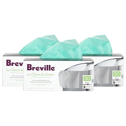 Breville Clean and Green Biodegradable Pulp Container Bag for Juicers, Set of 90 (Corn Starch Container compare prices)