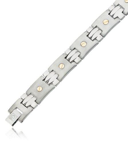 Mens titanium & 18k Bracelet, 18k Gold