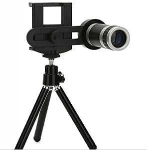 ECS Certified 8X Zoom Universal Mobile Phone Telescope Camera Lens & Tripod+Adjustable Holder