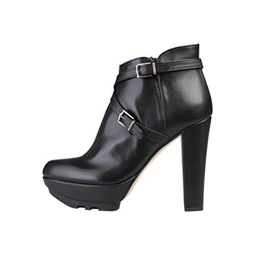 V 1969 - Solange - Stivali alla Caviglia Tacco Alto - Donna (40 EU) (Nero)