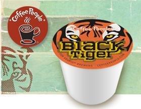 Coffee People Black Tiger Coffee * 1 Box Of 24 K-Cups *