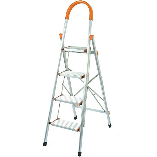 Brilliant Flatworld Folding Ladder With Platform 4 Step Stool With Pabps2019 Chair Design Images Pabps2019Com