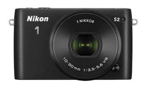 Nikon ミラーレス一眼 Nikon1 S2 標準パワーズームレンズキット ブラック S2PLKBK